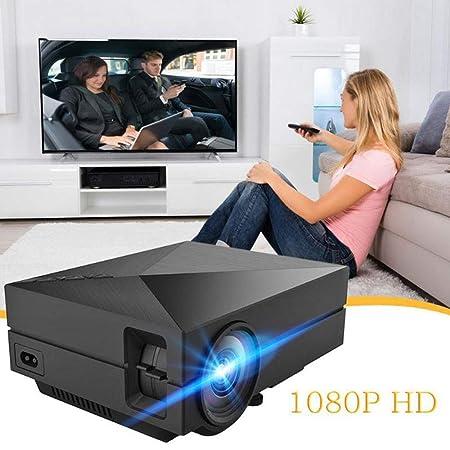 Mini proyector de 1000 lúmenes, 800 * 480P LED Full HD Multimedia ...