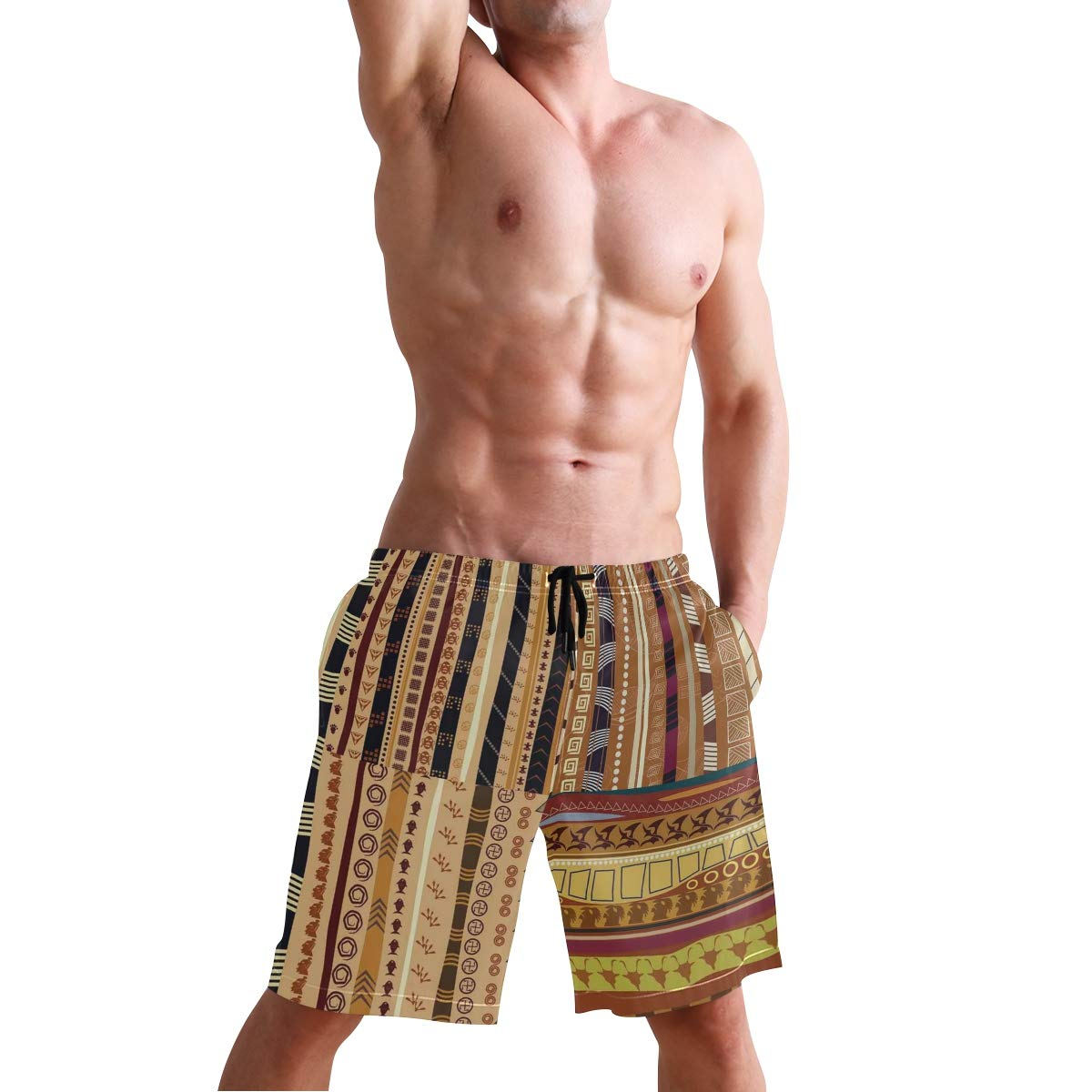 KVMV African Exotic Lizards and Chameleons Leaping Nature an Quick Dry Beach Shorts