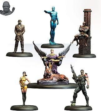 Knight Models Juego de Mesa - Miniaturas Resina DC Comics Superheroe - Batman Watchmen Bat Box Set: Amazon.es: Juguetes y juegos