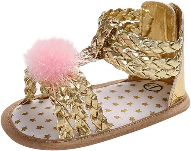 Soft Sole Sandals Toddler Summer Shoes Bow-knot Sandals Shoes Gold Sliver Pink