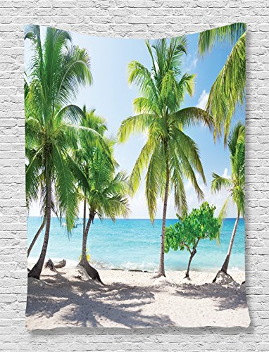 Palm Tree Tapestry Beach Decor by Ambeso - Girls Beach Bedroom Shopping Results