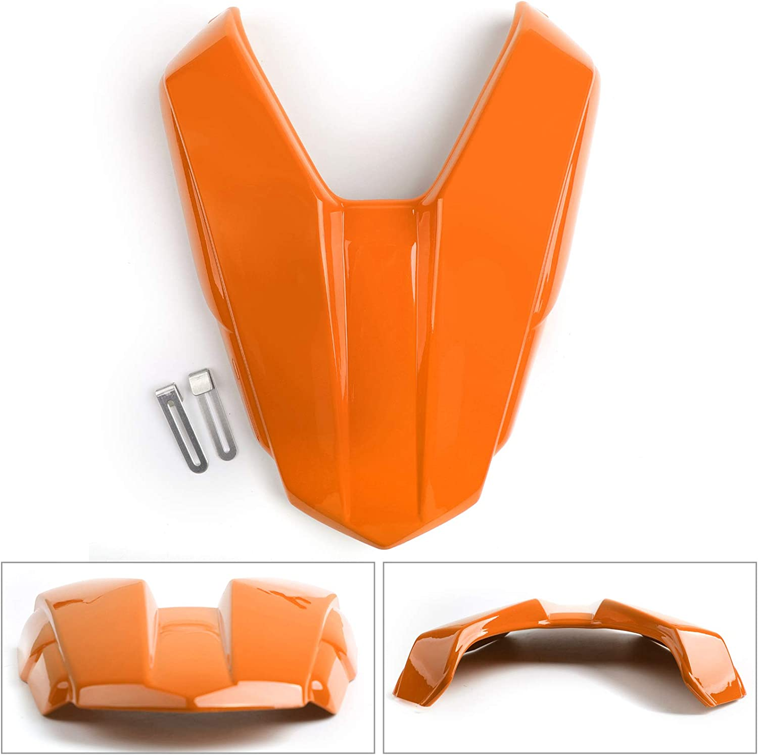 Topteng Rear Seat Cowl,Motorcycle Rear Passenger Pillion Solo Seat Cowl Hard ABS Pad Motor Fairing Tail Cover for Hon-da CB500F CBR500R 2016-2019