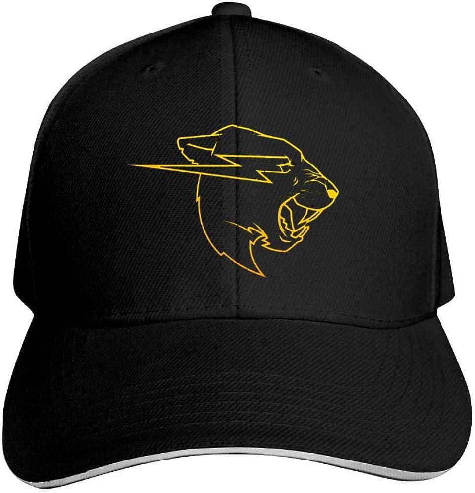 Te Zhi Gold Mr-Beasts Head Unisex Adjustable Hats Vintage Jeans Cap Casquette Baseball Hats Cool Dad Hat