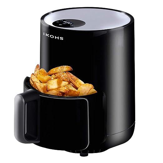 IKOHS IKOFRY Healthy Touch -Freidora sin Aceite, de Aire sin Aceite, Capacidad 1,5 l, 900W, Cesta Antiadherente, selector de Temperatura 80-200°, ...