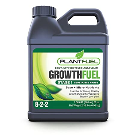 Plant Fuel Nutrients | GROWTH FUEL | Ultra-Premium Liquid Fertilizer for  Soil, Hydroponic, and Other Grow Mediums  Formulated specifically for the
