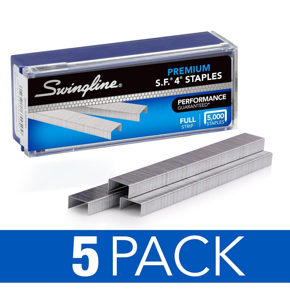 Swingline Staples, Premium, S.F. 4, 0.25 Inch Length, 210 Per Strip, 5,000 Per Box (S7035450) ACCO Brands