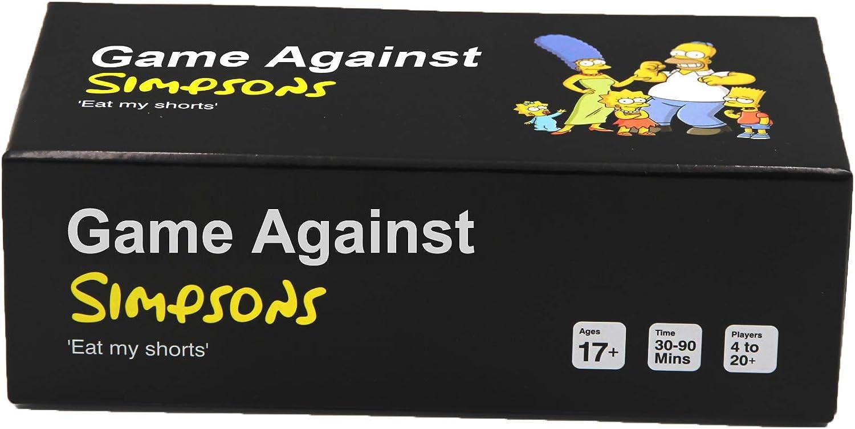 Cards Against Simpsons - Pantalones Cortos, diseño con Texto Eat My Short: Amazon.es: Juguetes y juegos