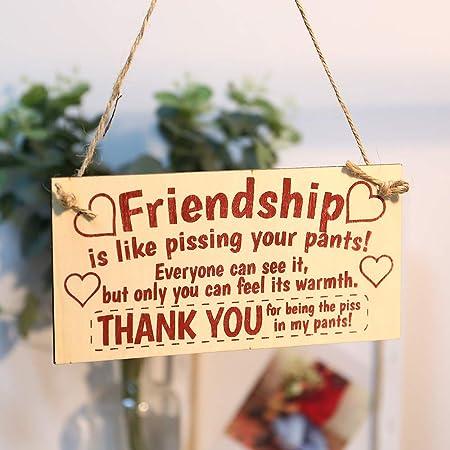 Sign Board Best Friend Friendship Home Decorative Gift Chic Spending Heart Decor