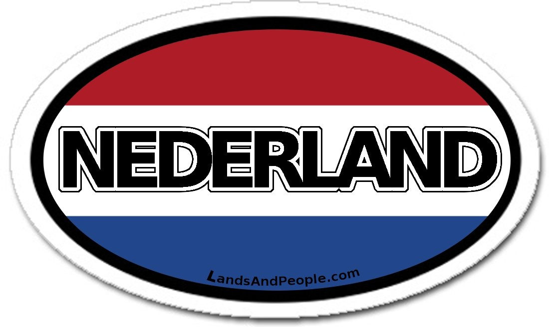Amazon com nederland netherlands in dutch and dutch flag car bumper sticker decal oval automotive