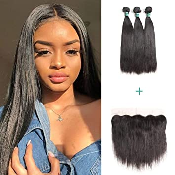 Humorous Beauty Grace Brazillian Body Wave Bundles With Frontal Human Hair Weave 3 Bundles Nonremy 13x4 Lace Closure Frontal With Bundles 100% Original Hair Extensions & Wigs