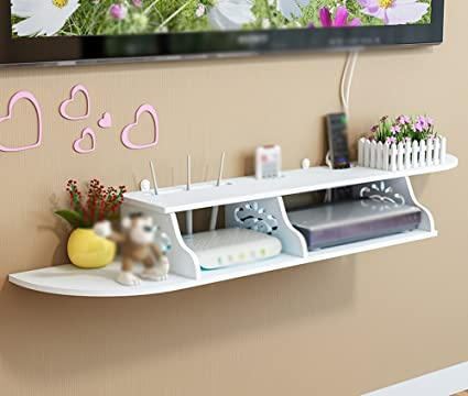 TV Set Top Box Rack/Two Grid Free Punch Shelves/Remote Control Storage