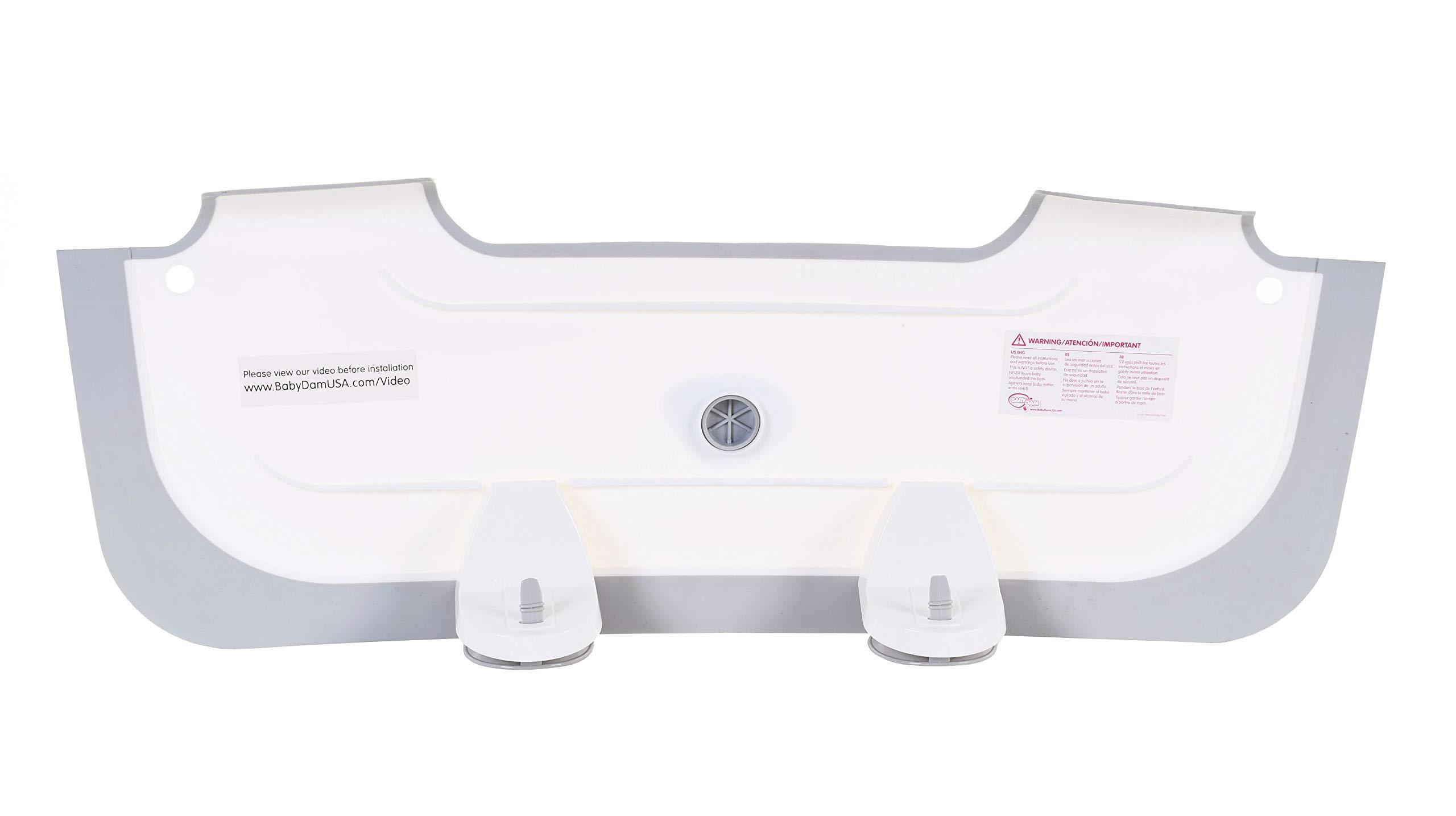 BabyDam Bathwater Barrier, Converts a Standard Non-Textured Bathtub to a Baby Bathtub by Baby Dam (Image #9)