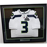 $1199 » Seattle Seahawks Russell Wilson Autographed Framed White Nike Elite Jersey With Super Bowl XLVIII Patch RW Holo