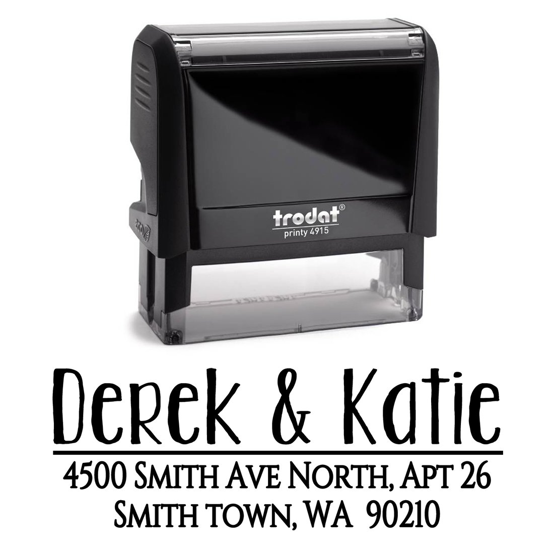 Black Ink, Custom Personalized Self Inking Return Mail Address Stamp – Brilliant Gift for Family, Newlyweds, Bridal Shower, Teacher or Clients