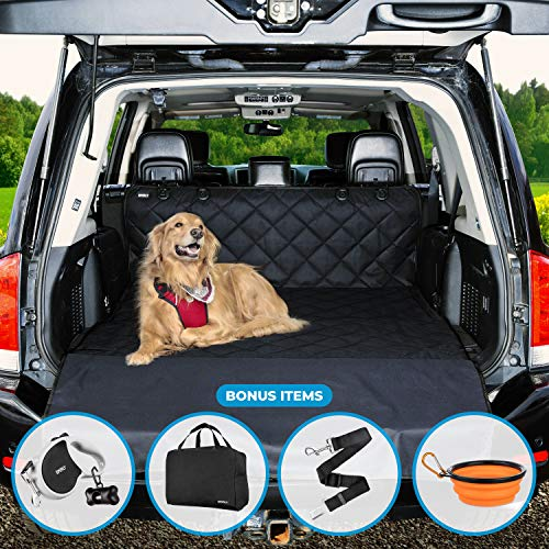 Universal Car Seat Covers for Dogs: Cargo Liner/Seat Protector for Cars, Trucks & SUVs - Waterproof, Heavy Duty Pet Carseat Cover for Back or Front Seats - Travel Accessories for Pets