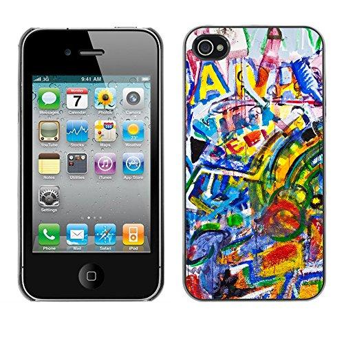 Premio Sottile Slim Cassa Custodia Case Cover Shell // V00002308 Graffiti // Apple iPhone 4 4S 4G