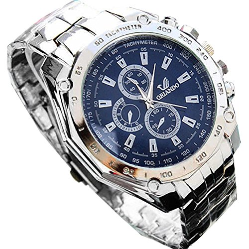 PEATAO Men's Business Quartz Watch Fashion Sport Casual Wristwatches with Stainless Steel Belt(US STOCK)