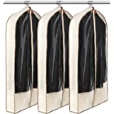 LUXEHOME Reusable Folding Canvas Garment Bags for Suits, Cloth, Protects Storage Home Decor, Set of 3