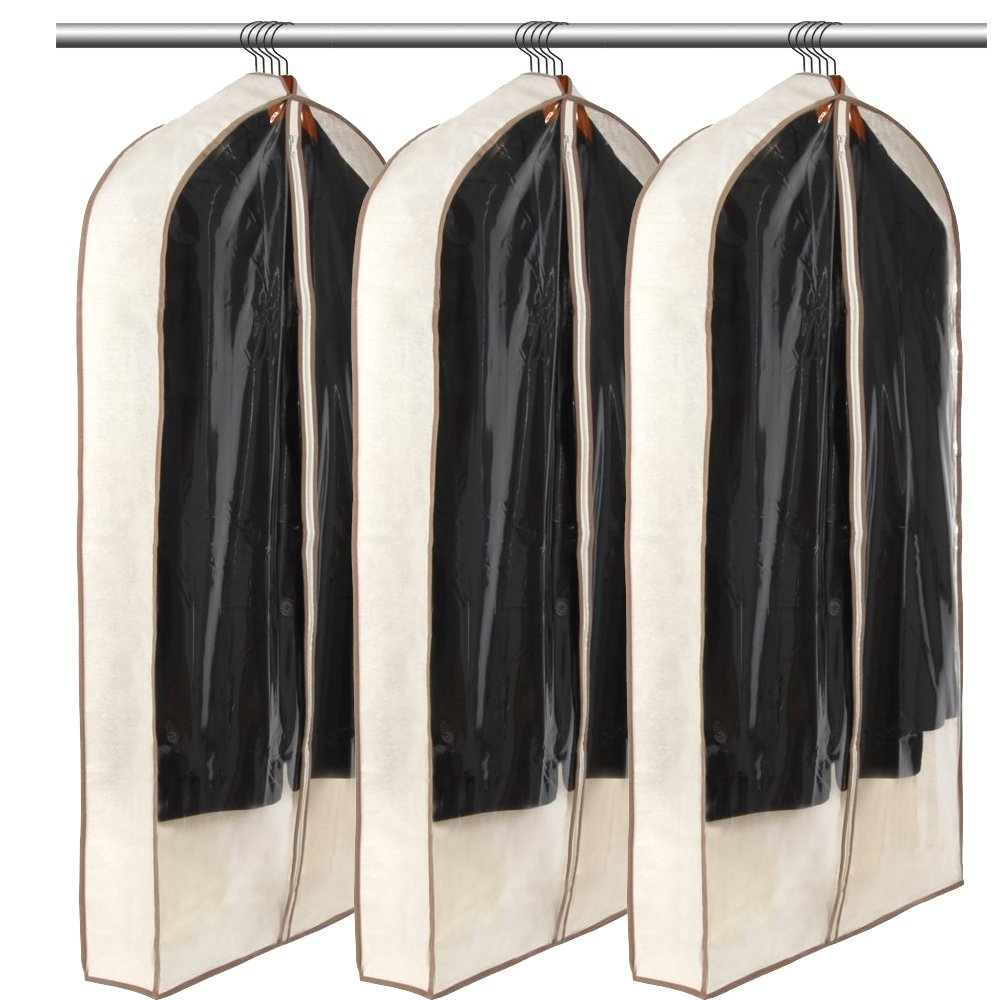 Luxehome Reusable Folding Garment Bags for Suits, Cloth, Protects Storage Home Decor, Set of 3 LiuHeXiang GB1501-02