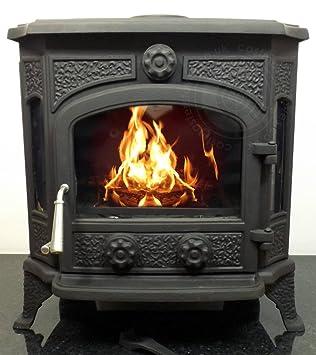 Castmaster - radleigh combustión de madera quemador de leña Multifuel estufa hierro fundido 12 kw: Amazon.es: Bricolaje y herramientas