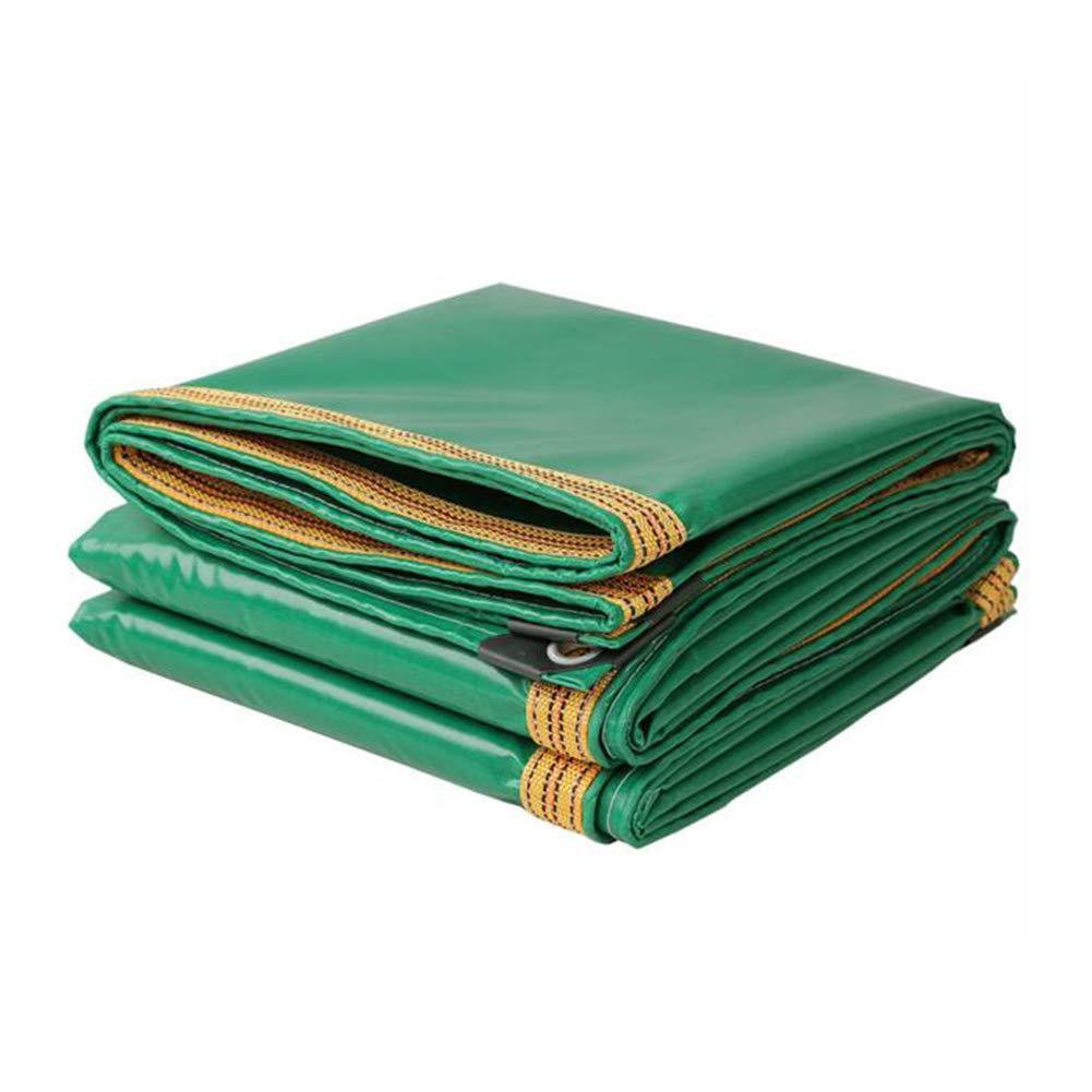 DALL ターポリン タープ 防水 日焼け止め レインクロス 園芸 防塵 多目的 (色 : 緑, サイズ さいず : 5×6m) 5×6m 緑 B07L4B4H55