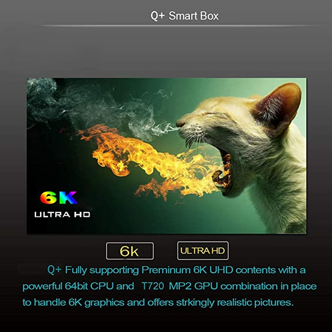 Android TV Box 9.0, 2019 El más Nuevo Android Box 4GB RAM 32GB ROM H6 Quad Core Cortex-A53 Smart TV Box, soporta 6K de resolución 3D 2.4GHz WiFi Ethernet USB 3.0 Media