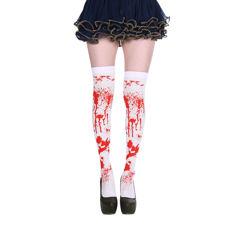 MioCloth Halloween Cosplay Bloody Nurse Costume Zombie Tights Socks Stockings Legging