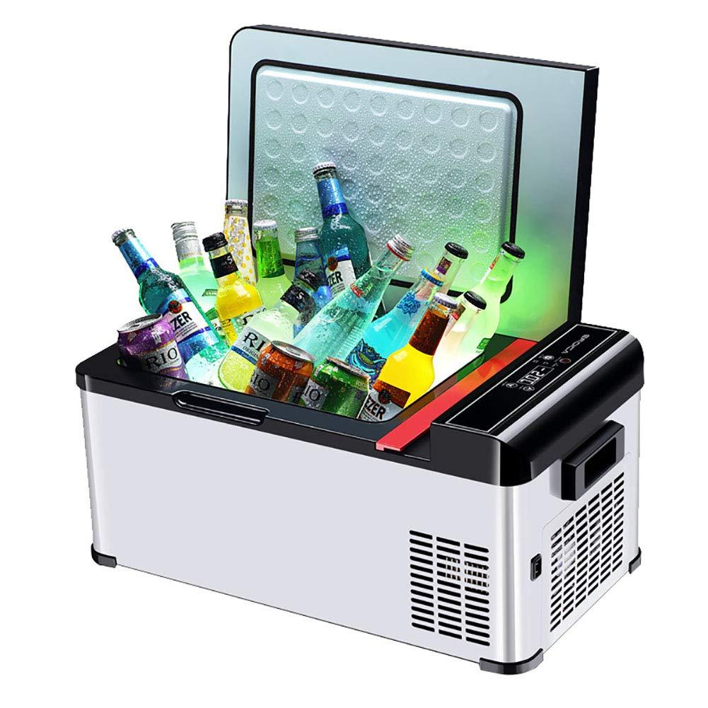 FJW Car Refrigerator 18L Mini Refrigerator, Dual Voltage Air Compressor 12V DC/220-240V AC with Voltage Detection for Car/Home/Travel/Camping