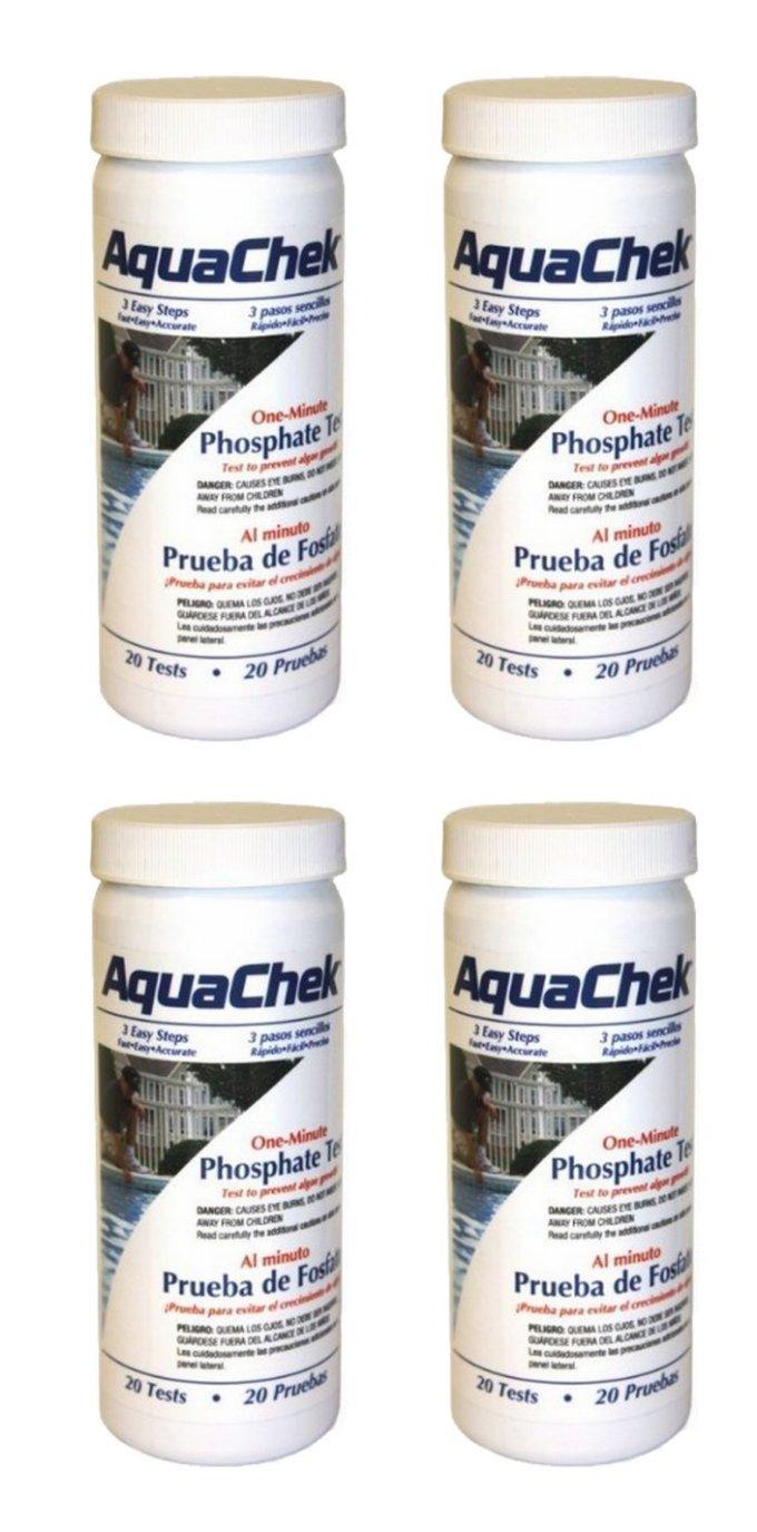 80) AQUACHEK 562227 One Minute Phosphate Test Strips Swimming Pool/Spa 4 Bottle by AquaChek