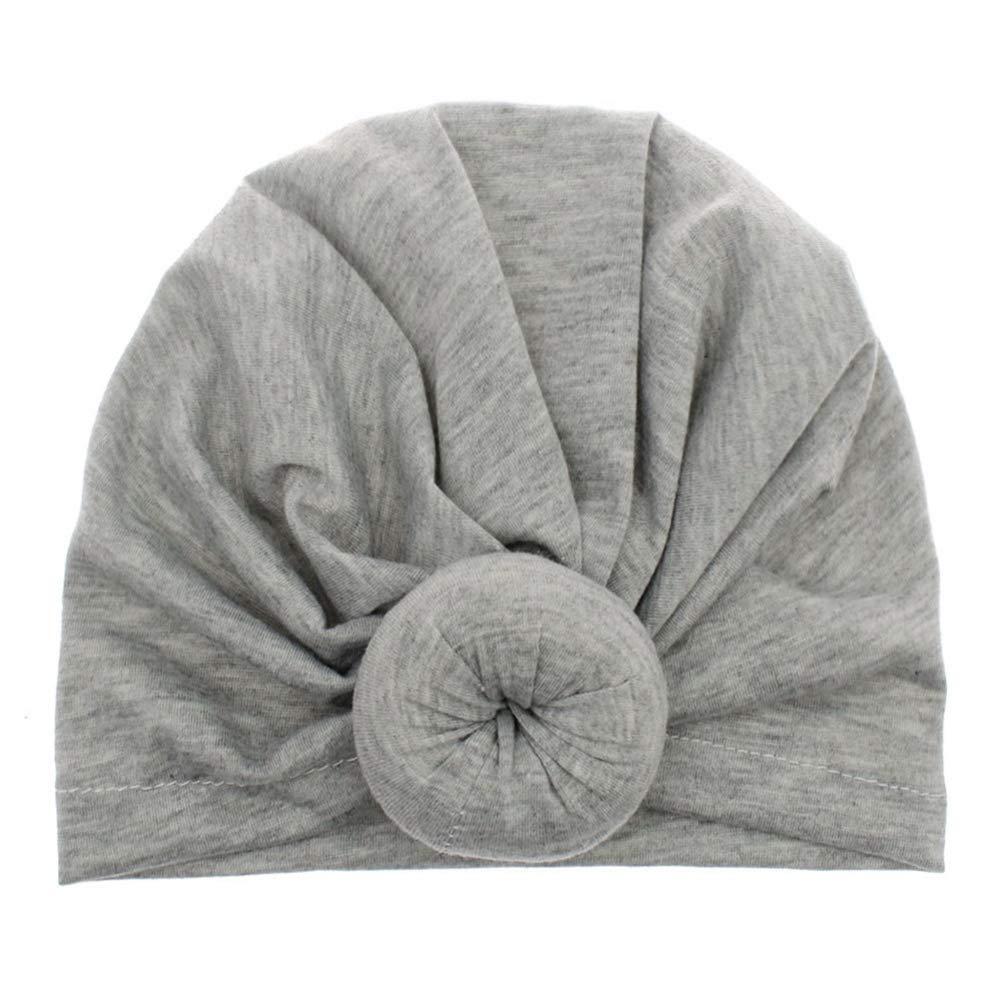 Miyanuby Cappellini Berretti Neonato Neonata Morbido Cotone Turbante Cappello Nodo cap Elastic Stretch Head Wrap