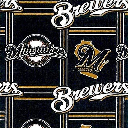 - Fleece Milwaukee Brewers MLB Baseball Sports Fleece Fabric Print By the Yard