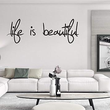 La Vie Est Belle Anglais Proverbe Sticker Mural Vinly Home