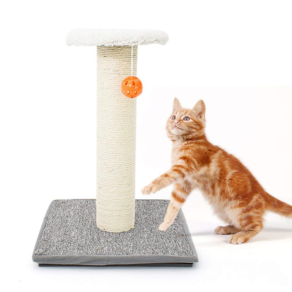 Jnzr Cat Scratch Column, Cat Jumping Platform Sisal Column Cat Climbing Frame 35  35  49cm Diy Self Assembly Safe And Stable Soft And Comfortable