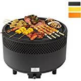 Kbabe Portable BBQ Grill Removable Plates and Easy Clean Charcoal Barbecue Multicolor-Black