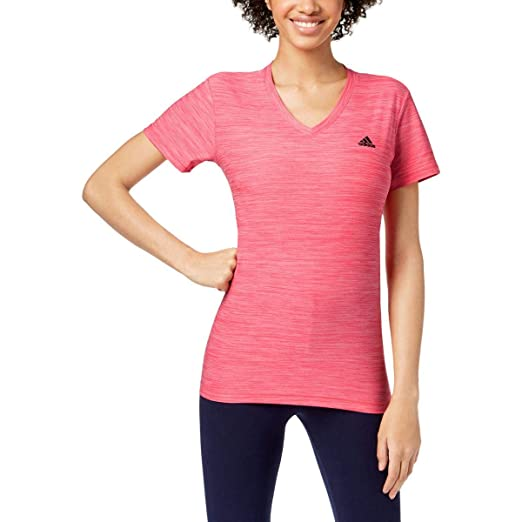 Amazon.com: adidas Womens Yoga Fitness T-Shirt Pink M: Clothing