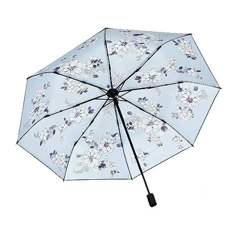 5376edaab43d Amazon.com: KXDAR Flower Folding Travel Sun Umbrella Sunblock UV ...