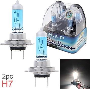 2 X H7 Auto Xenon Halogenlampen Superhell 6000 K Weißes Licht 12 V 55 W Auto