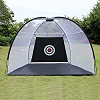 OUTCAMER Golf Hitting Net 10 x 7 ft Collapsible Portable Golf Practice Driving Net for Backyard Training Indoor and Outdoor