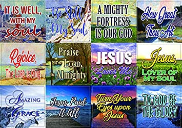 5-Sheet Hope and Gratitude Religious Stickers - Thanksgiving Grateful Trusting Easter Stuffing Stockers