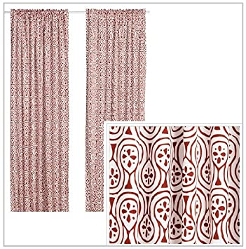 Red Curtains amazon red curtains : Amazon.com: IKEA LAPPLJUNG Pair of Curtains, 2 panels, white / red ...