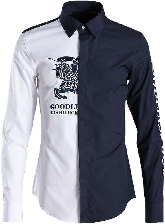 Nueva Camisa de Hombre Delgada de Moda a Juego de Color ...