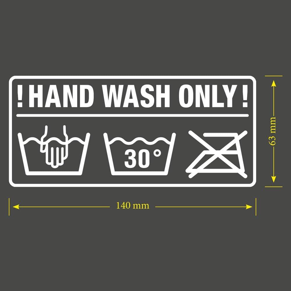 Pegatina para coche de la marca Hand Wash only JDM Tuning OEM DUB Decal Stickerbomb Bombing Fun Rasenmäher
