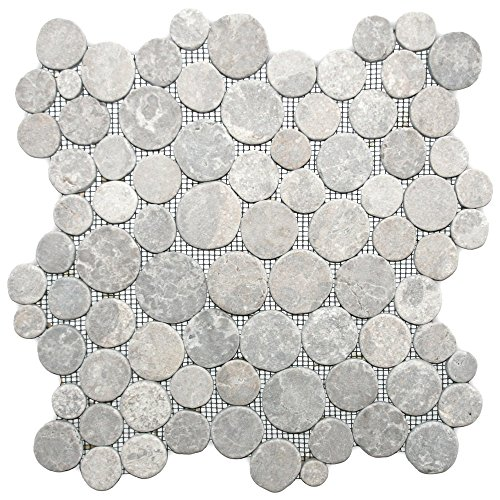 Light Grey Moon Mosaic Tile 1 sq.ft