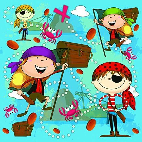 20 servilletas de Piratas en Aventura como decoración de Mesa para niños para cumpleaños Infantiles 33 x 33 cm: Amazon.es: Juguetes y juegos