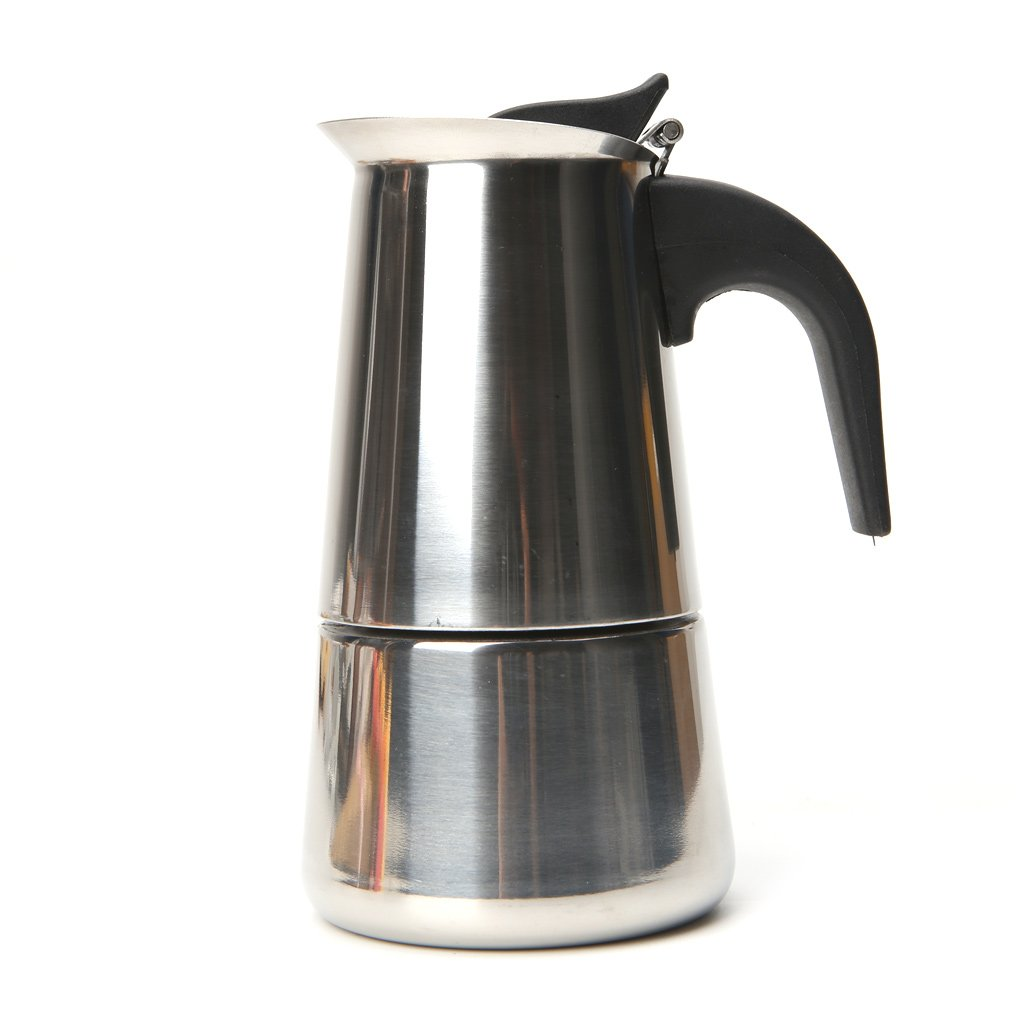 HBSHE Stainless Steel Mocha Pot Espresso Coffee Maker Stove Tool (100ml) HBSHE528