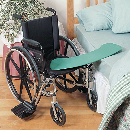 Days Curved Transfer Board for Wheelchair Users, Reinforced Plastic Slide Board for Disability, Handicapped, 27 5/8