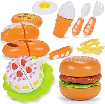 NextX Cocina y comida Estuche de juego juguete de rol para niños - 12PCS juguetes de rol para niños Navidad: Amazon.es: Juguetes y juegos