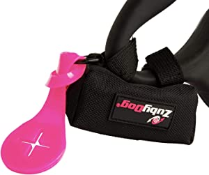 ZubyDog Dog Poop Bag Holder - Includes Poop Bag Holder Accessory for Carrying Used Poop Bags - Premium Fabric Poop Bag Dispenser for Leash – Spacious Dog Waste Bag Holder – Holds 2 Rolls