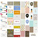 48 Pack Assorted All Occasion Greeting Cards - Includes Happy Birthday, Congratulations, Thank You Note Cards Assortment Designs - Bulk Box Set Variety Pack with Envelopes Included - 4 x 6 Inches