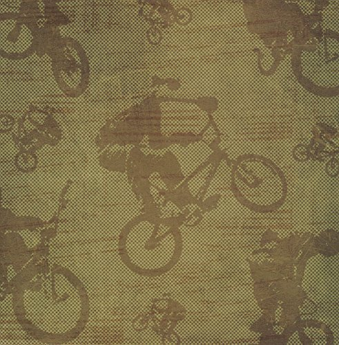 (CREATIVE IMAGINATIONS BMX Trick Sports Xtreme 12 Inch x 12 Inch Scrapbook Paper - 1 Sheet (15697))